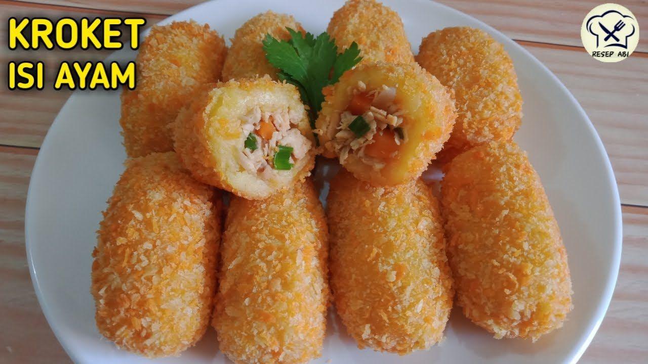 Resep Dan Cara Membuat Kroket Kentang Isi Ayam Enak Dan Mantap Youtube Kroket Malaysian Food Snacks