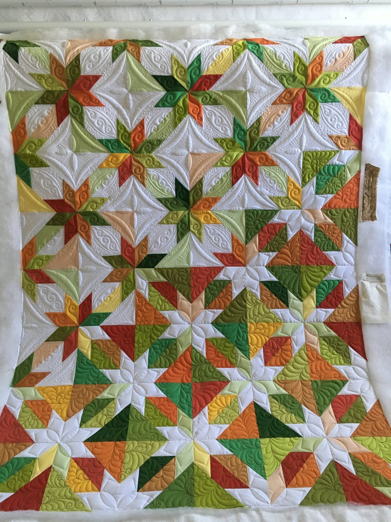 Confetti Star Pattern by Material Girlfriends #starquiltblocks