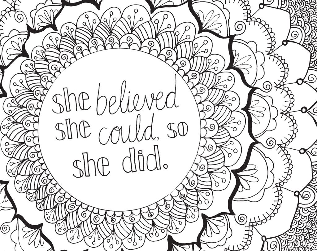 The coloring book of positivity - Brighten Your Day And Your Walls With These Positive Phrases Like Make Today Great