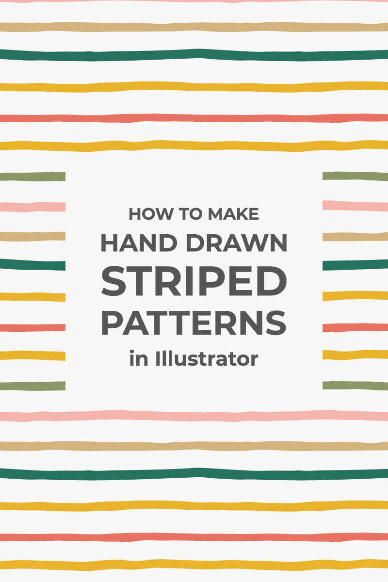 Hand Drawn Striped Patterns In Illustrator How To Draw Hands