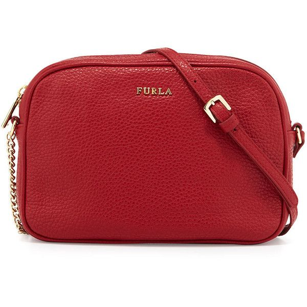 Furla Miky Small Leather Crossbody Bag ( 175) ❤ liked on Polyvore featuring  bags 4dff458dc4220