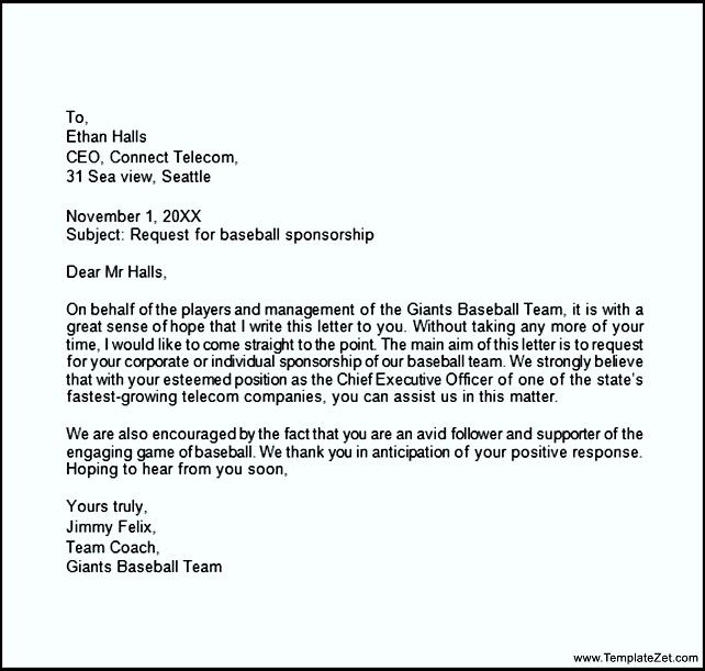 parent thank you letter from youth athletes sponsorship sample - sponsorship thank you letter