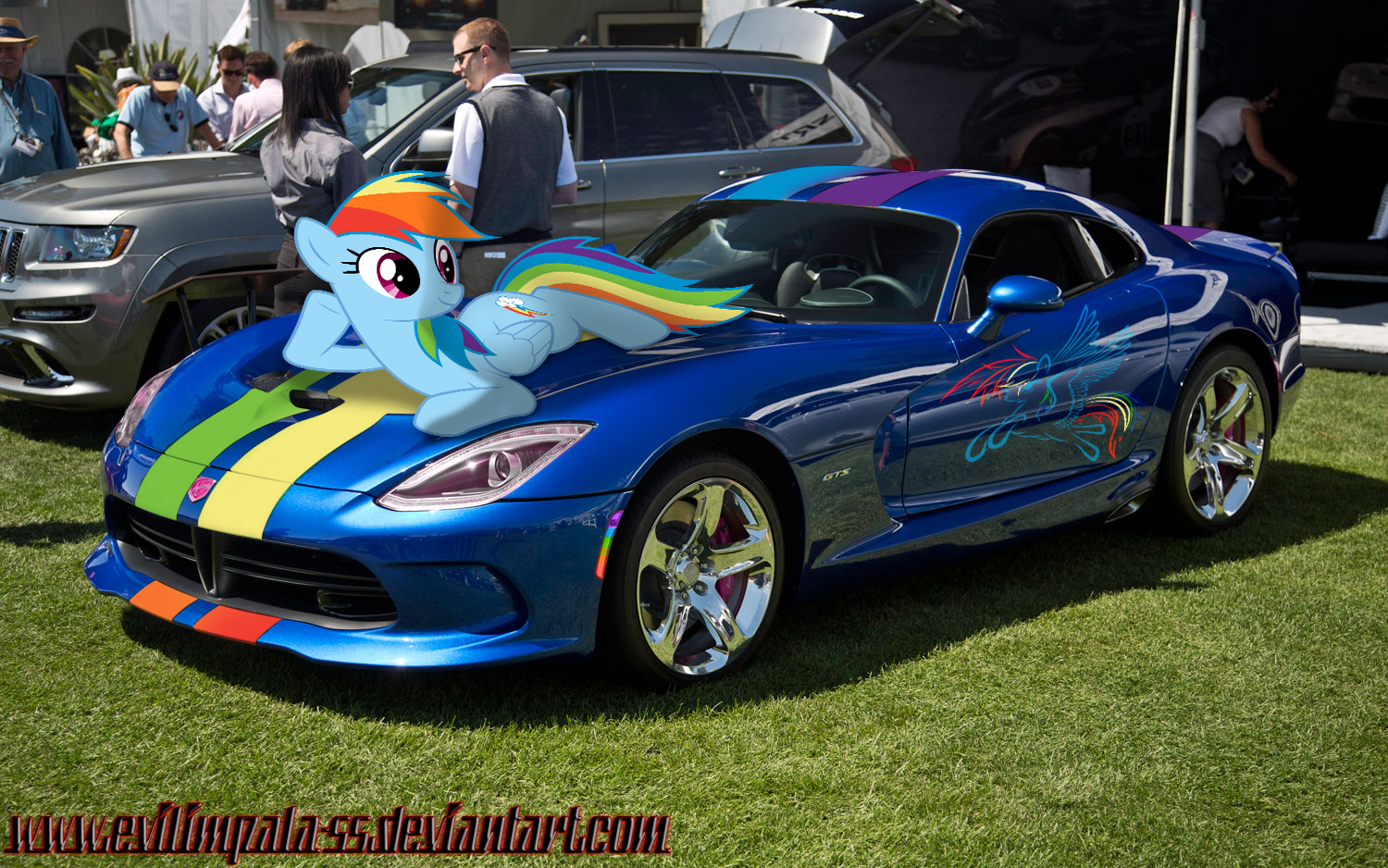 Rainbow Dash And Dodge Viper 2013 Gts In Car Show Dodge Viper Viper Gts Viper