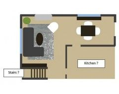 tv next to window l shaped living dining room furniture layout