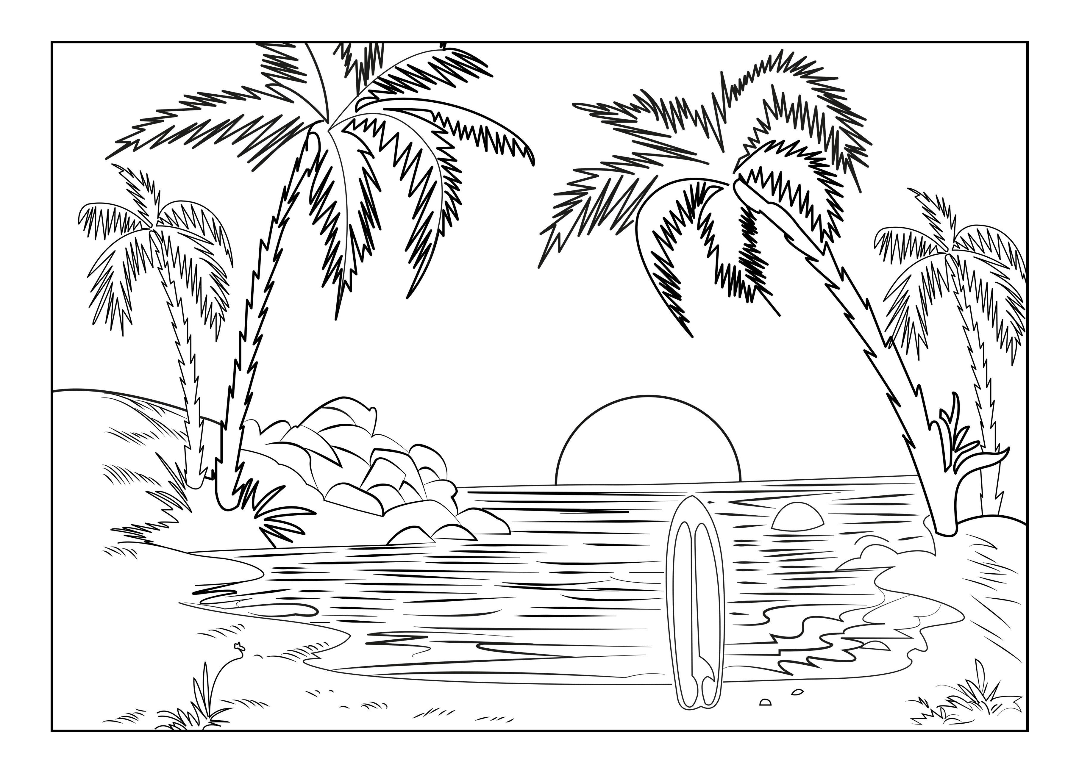 Landscape Coloring Pages Coloring Pages Nature Beach Coloring Pages Summer Coloring Pages