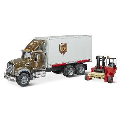 The Ups Working Truck And Forklift The Mack Ups Truck And Forklift With Realistic Moving Components Forklift Trucks Freight Truck
