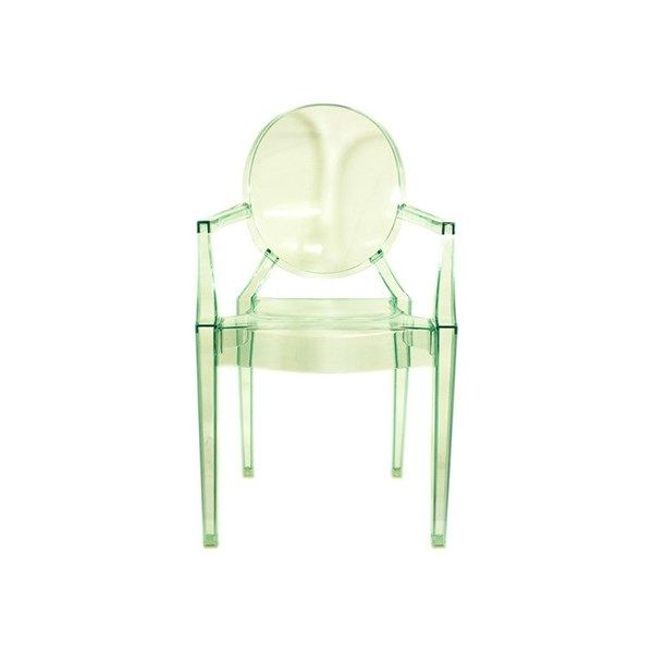 Kartell Lou Lou Ghost Childrens Chair Bedroom Chair By Philippe Starck Green