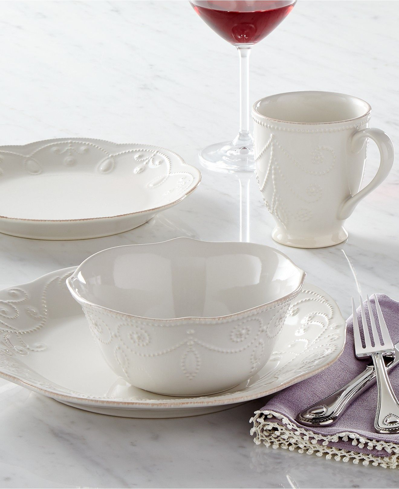 Lenox Dinnerware, French Perle Collection - Dinnerware - Dining & Entertaining - Macy's