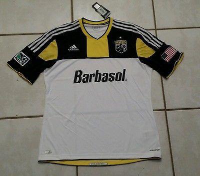 NWT Authentic ADIDAS Formotion Columbus Crew MLS Soccer Jersey Men's XL