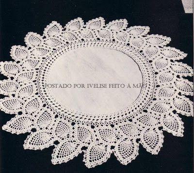 Ivelise Hand Made: Из таблицы Centrinho В крючком ...