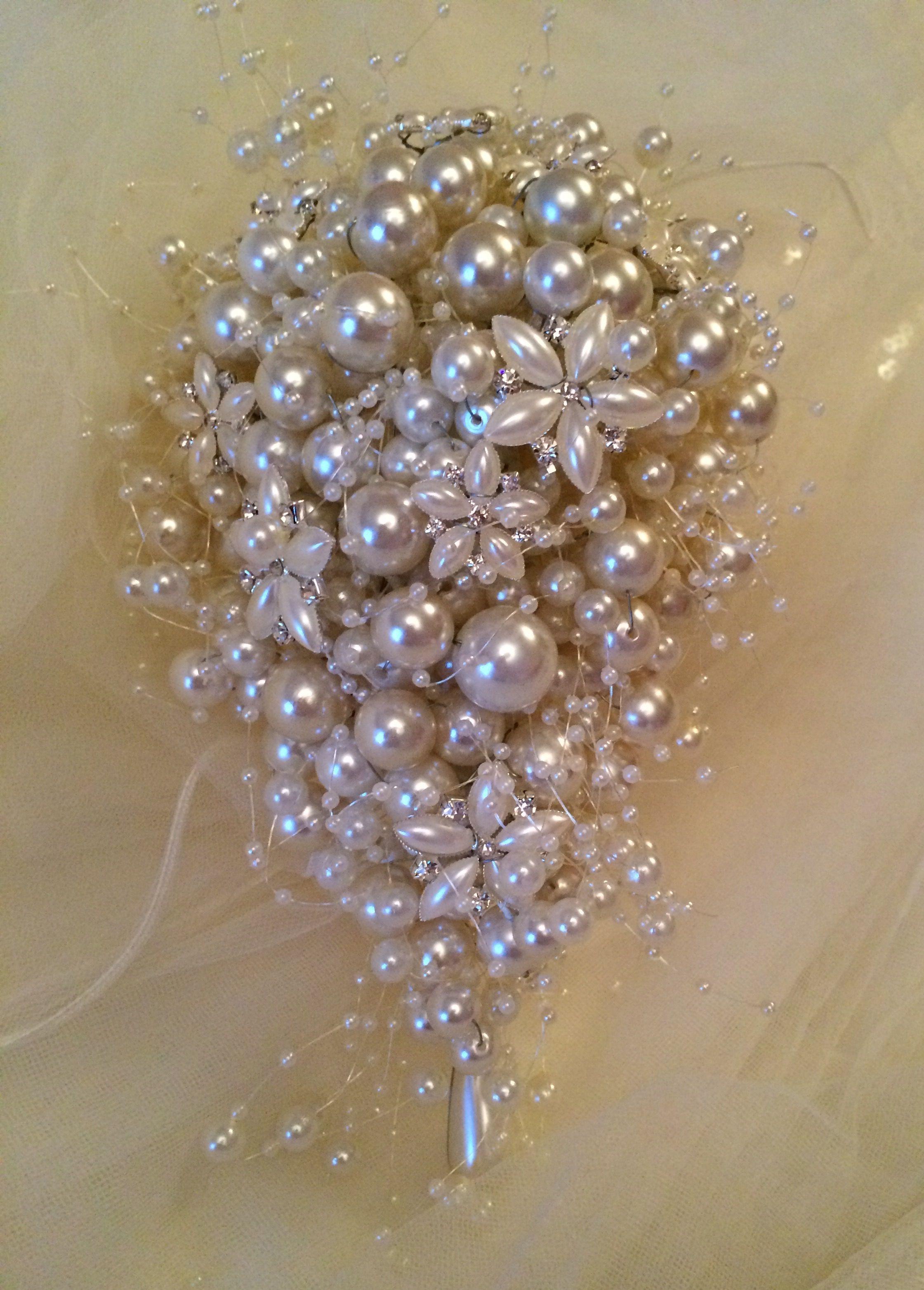 Pearl bouquet for sale on eBay Bridal brooch bouquet