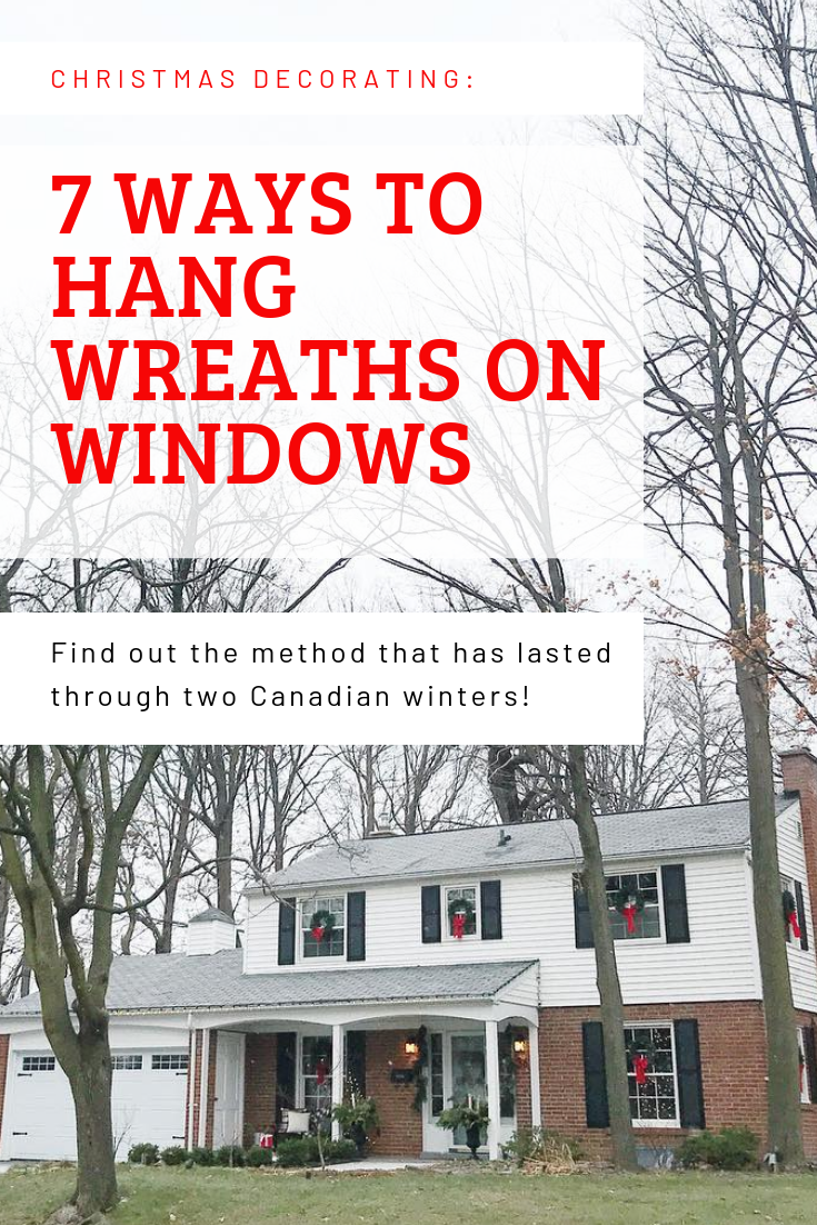 7 Ways Of How To Hang Wreaths On Windows Christmas Wreaths For Windows Lighted Wreaths Magnetic Wreath Hanger