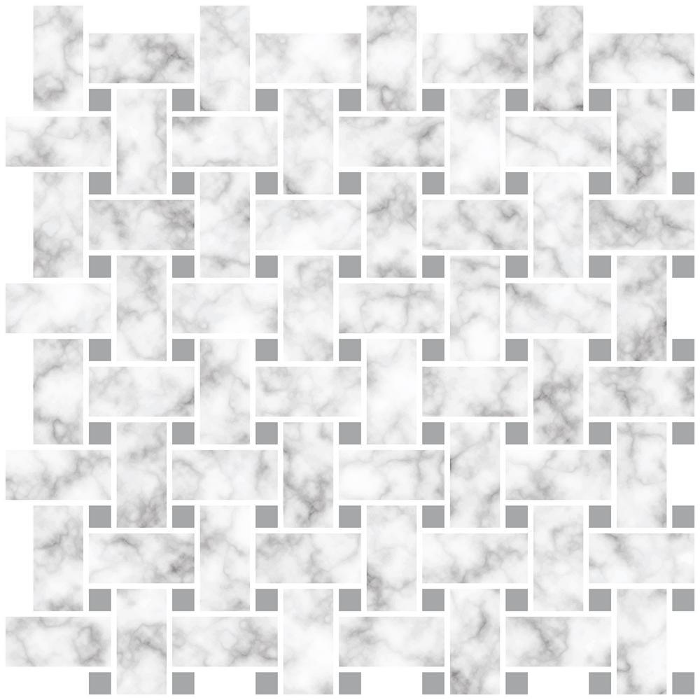 Inhome Basketweave 10 In X 10 In Off White Carrara Peel And Stick Backsplash Tiles Nh2957 The Home Depot Peel Stick Backsplash Peel And Stick Tile Peel N Stick Backsplash