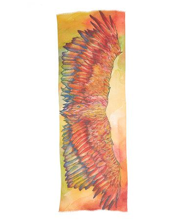 Look what I found on #zulily! Jeweltone Phoenix Hand-Painted Shawl #zulilyfinds