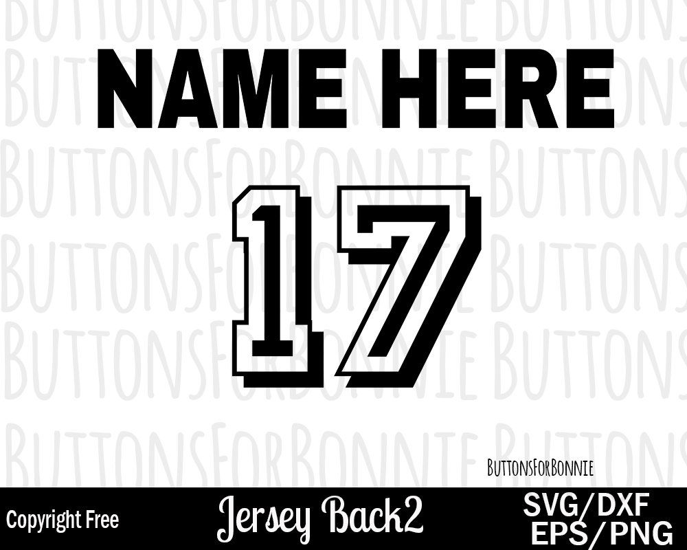 Jersey SVG Number Football Baseball Basketball Soccer Fastpitch Track Wrestling Numbers Heart Shirt Fall Club Cricut Cut Files Silhouette