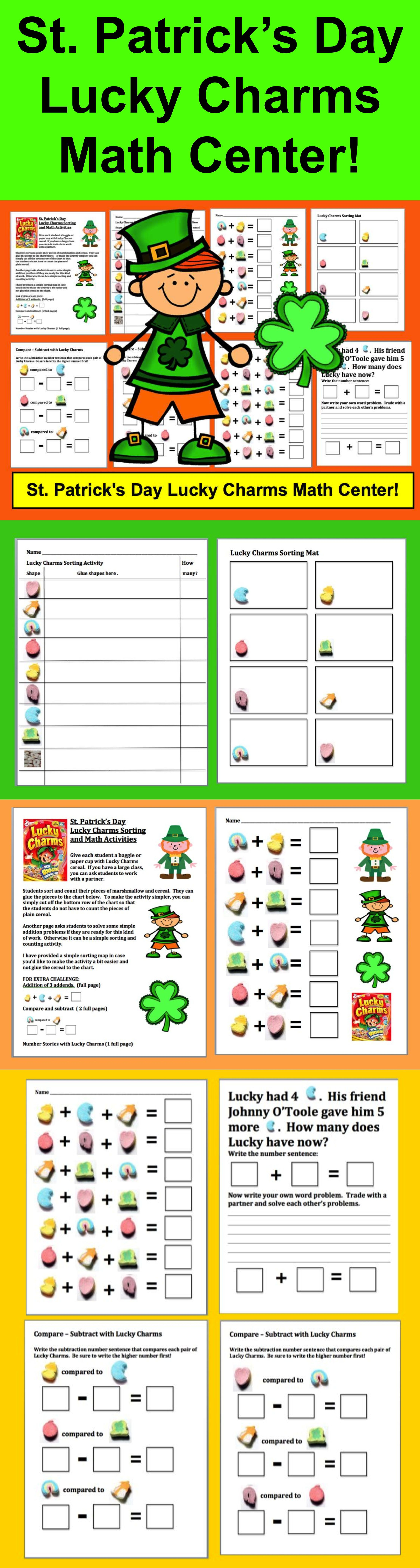 St Patrick S Day Activities Lucky Charms New With