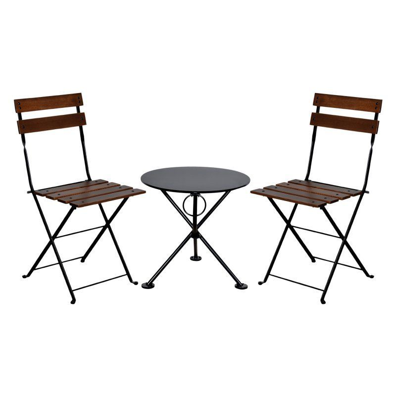 French Bistro Table And Chairs furniture designhouse french cafe bistro chestnut wood 3 piece