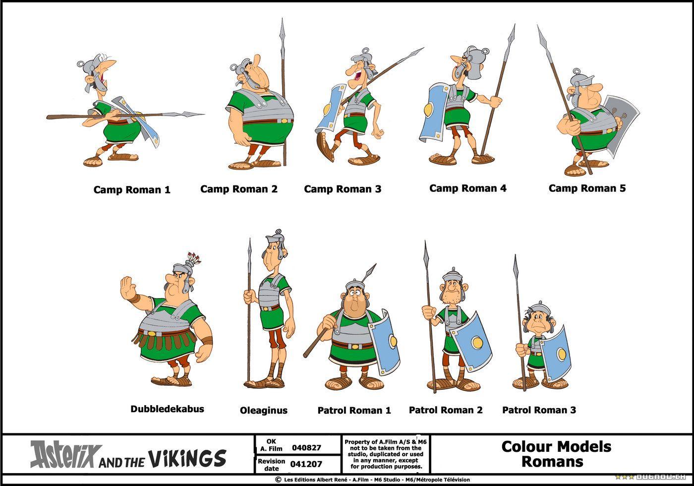 Tim Struppi 3 Gratis Malvorlage In Comic: Astérix Et Les Vikings - Romains