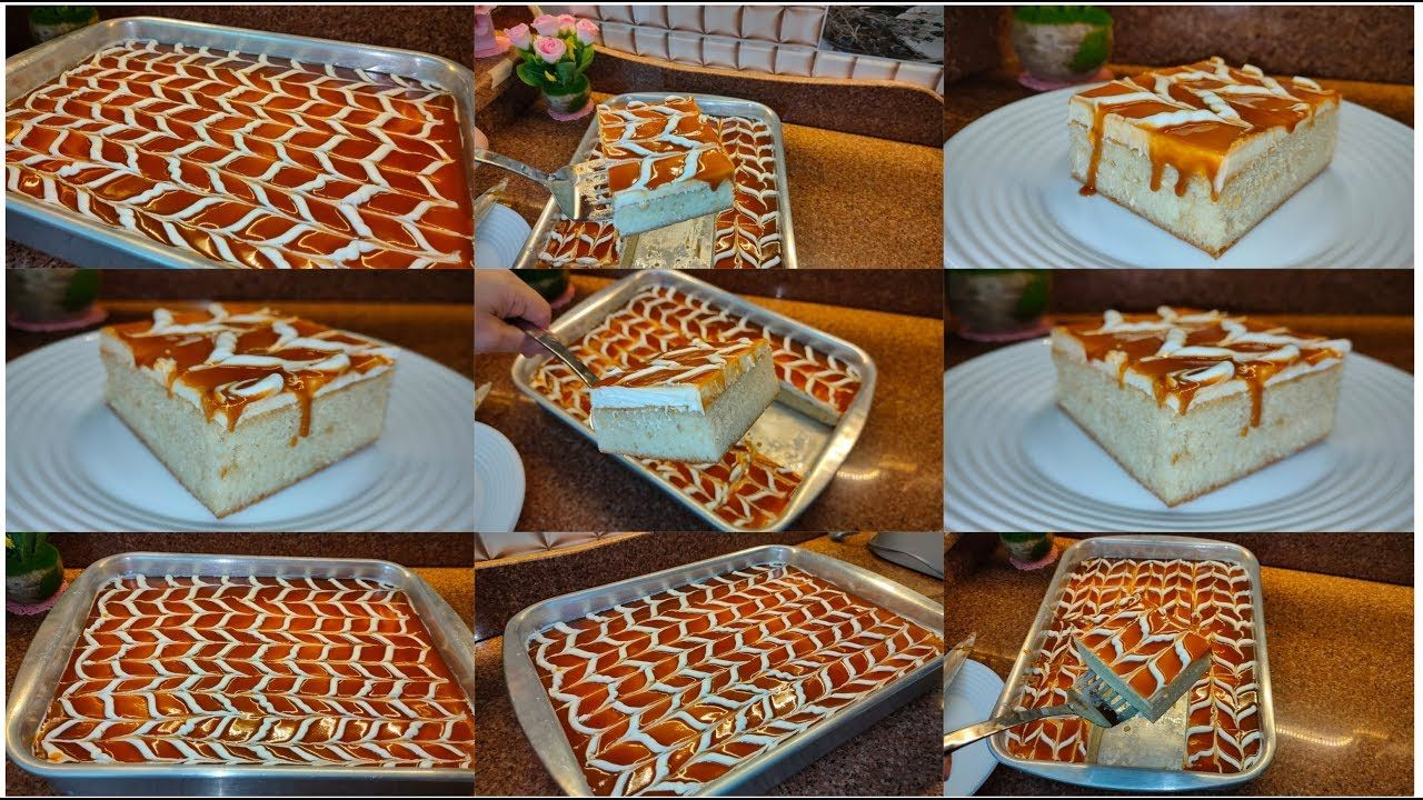 كيك الحليب والكراميل كيك التريليتشيا كيكة طلعت الكيكة التركية كيكة الحليب التركية خليك في بيتك Youtube Cookout Food Cake Cookies Food