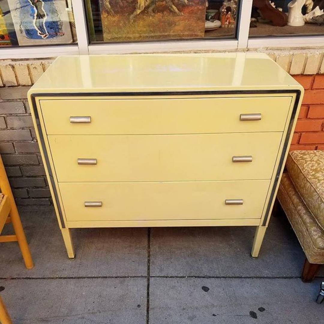 Sold Rare Three Drawer Dresser By Simmons From Mom N Pop Antiques Of Parkview Petworth Washington Dc Attic Three Drawer Dresser Drawers Vintage Furniture