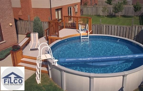 above ground pool intex pool decks