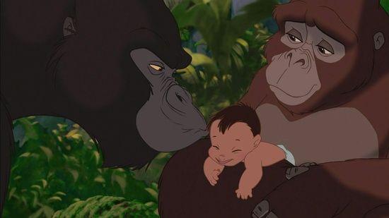 Kerchak And Kala Tarzans Adopted Parents From Tarzan Well