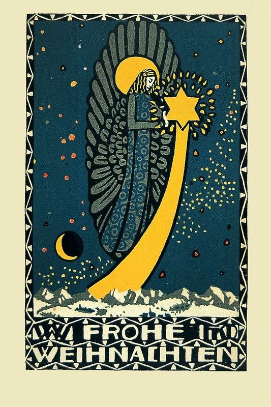 Wiener Werkstätte - Postkarte No. 19, Franz Karl Delavilla, Austria, 1907.