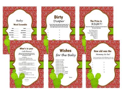 Western Baby Shower Game, Bandanna, Activity, Cowboy Baby shower, Game Prize, Unique Baby Shower, cbw1