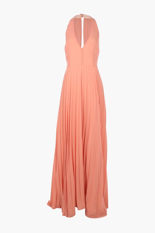 Sidra chiffon pleated plunge maxi dress maxi dresses thighs and