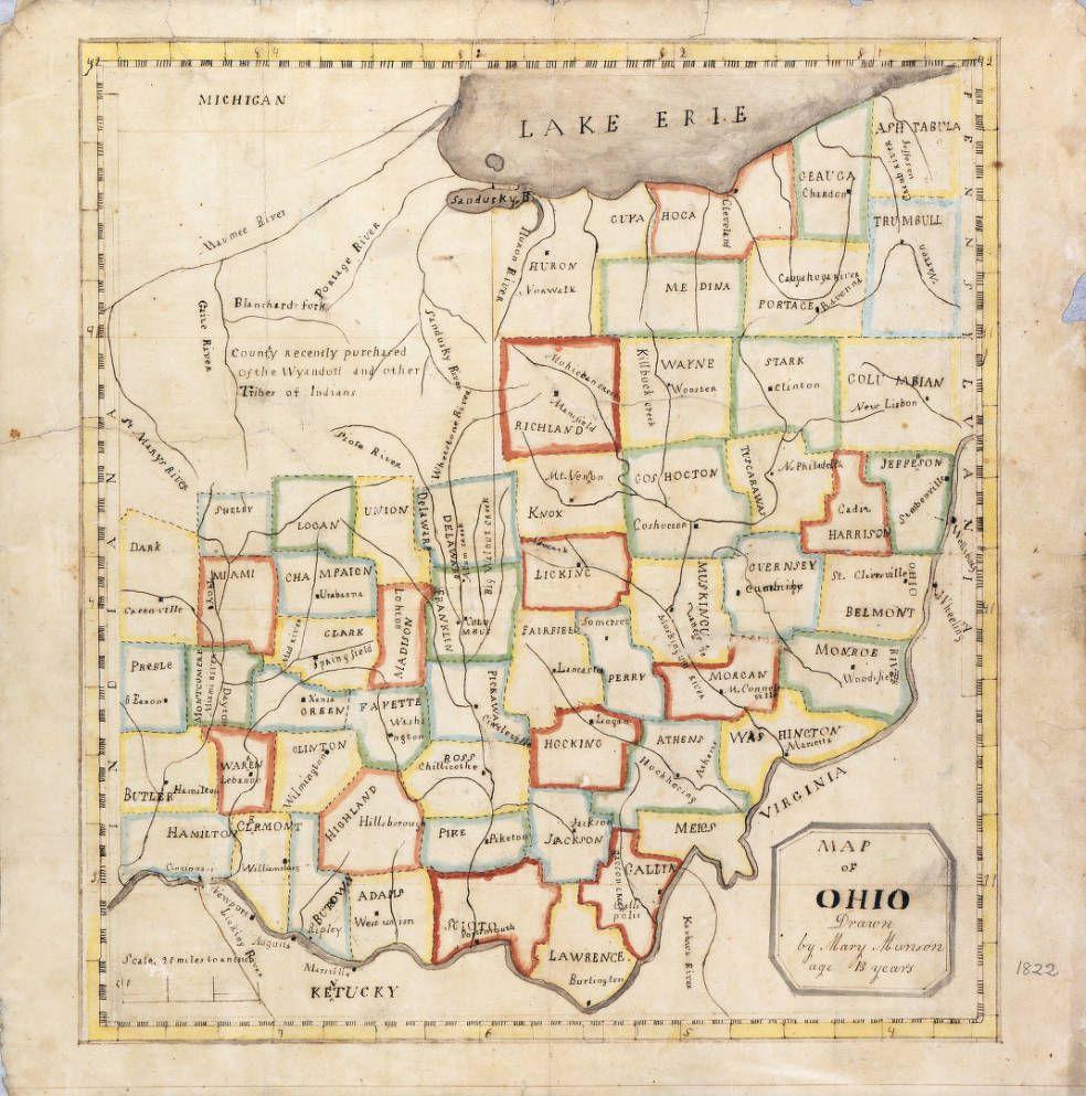 Ohio History Connection Selections Ohio Map Ohio History Genealogy History
