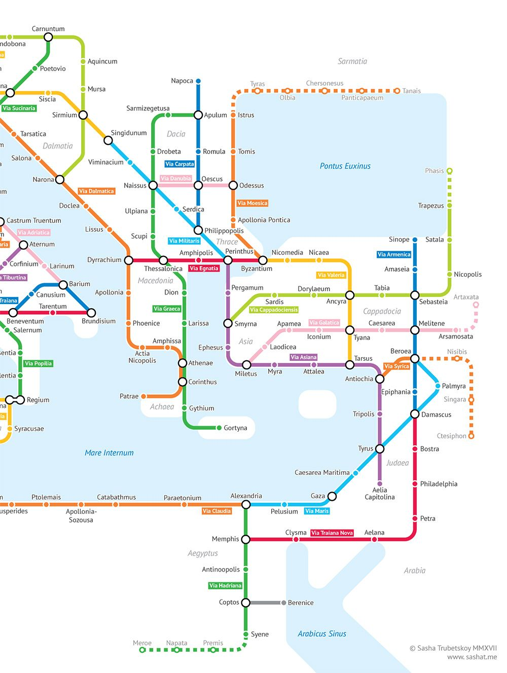 What The Roman Empire Would Look Like If It Was A Subway Map.The Roman Empire S 250 000 Miles Of Roadways Imagined As A Subway
