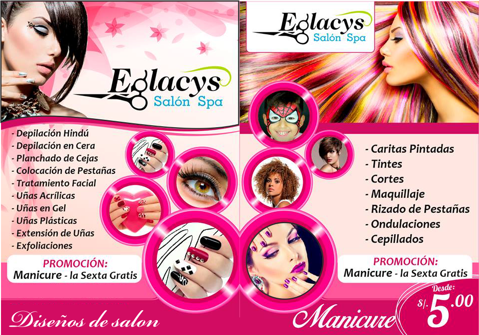 flyer para salon de belleza   Nombres de salones de ...