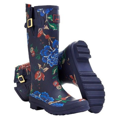 Women's Joules® Rain Boot Welly Print - Navy