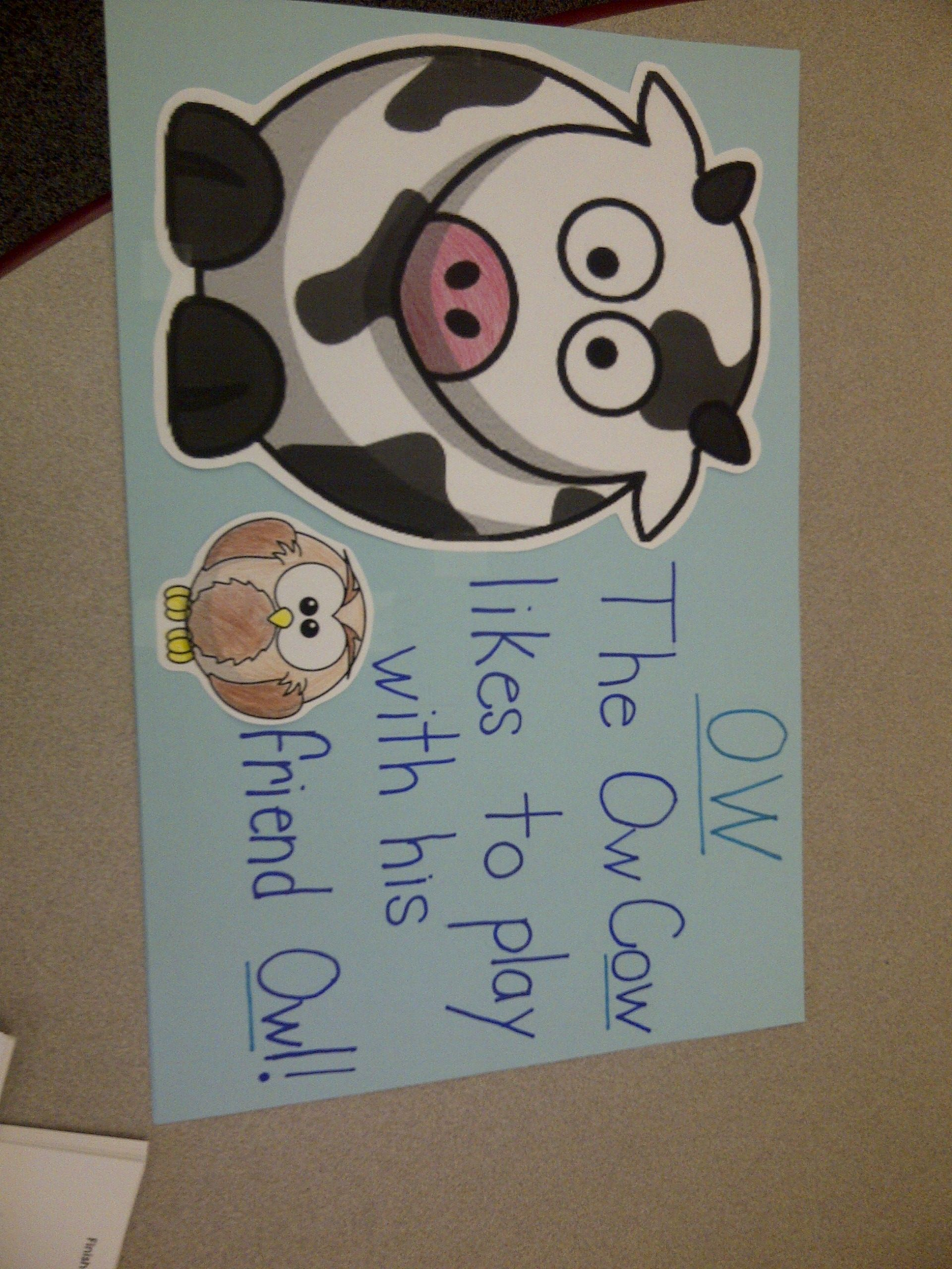 Ow Cow Poster Use With Ou Mouse