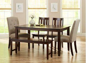 3a856d3f5da0493771b6c4acccd6814e - Better Homes And Gardens Bankston 6 Piece Dining Set Mocha
