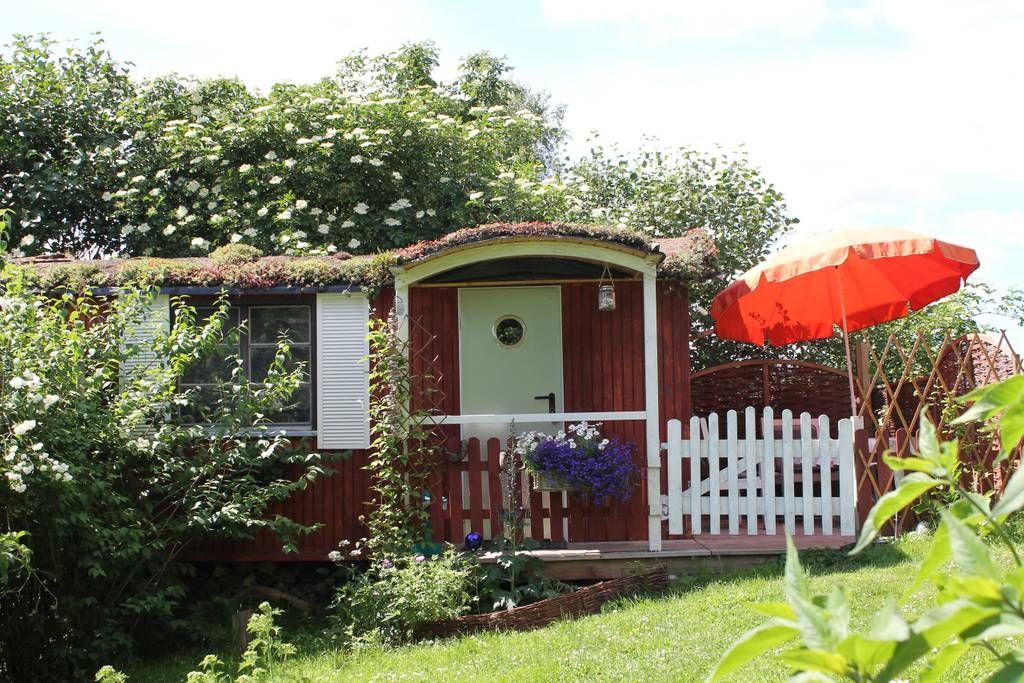 Gemütlicher Bauwagen im Garten, mit Duschbad Kleine