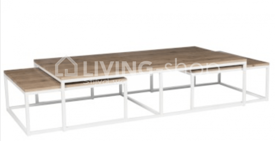 2458e77dcfa2ea Table salon loft avec 2 tables gigognes J-LINE boutique en ligne LIVING-shop