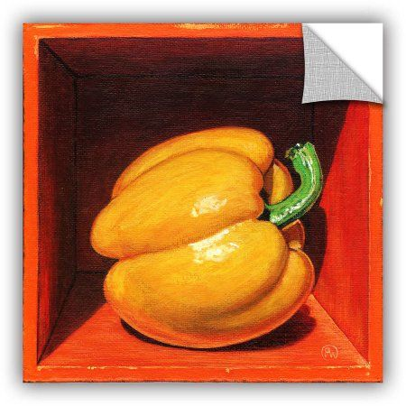 ArtAppealz Paige Wallis Yellow Bell Removable Wall Art, Size: 24 x 24, Green