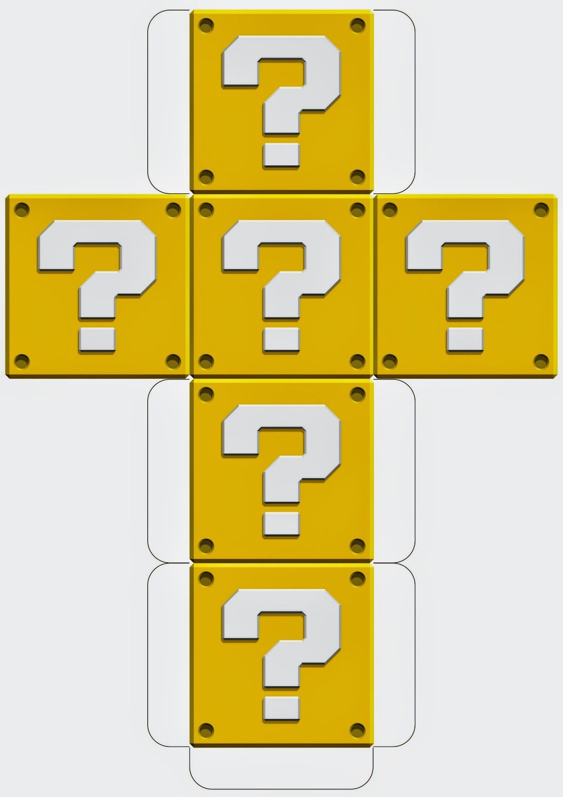 Super Mario Downloadable Question Block Template | Mario Birthday ...