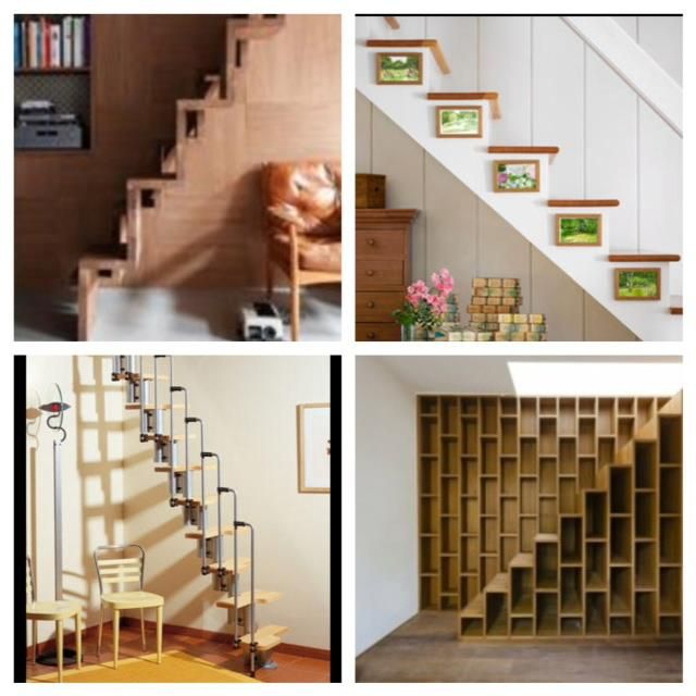 Anyone else a little anti-ladders? Here are a few of many stairs options that could totally be integrated into a tiny space!