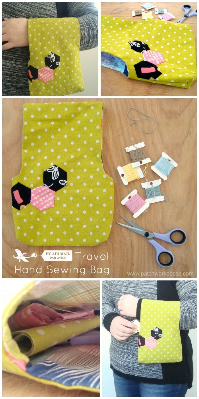 Small Travel Bag for Hand Stitching with Hexagon Detail | Taschen ...