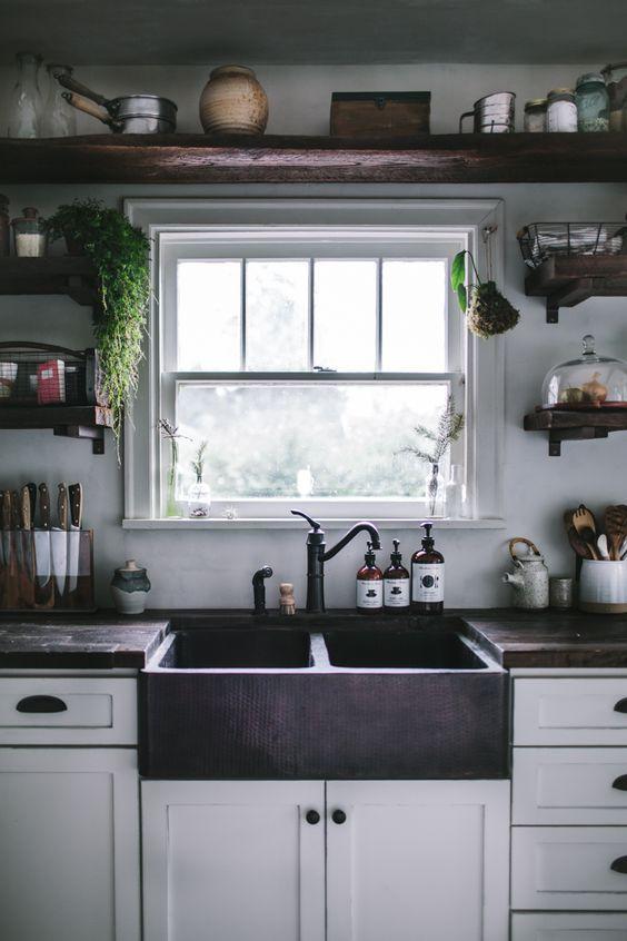 étagères ouvertes dans la cuisine 53 idées photos