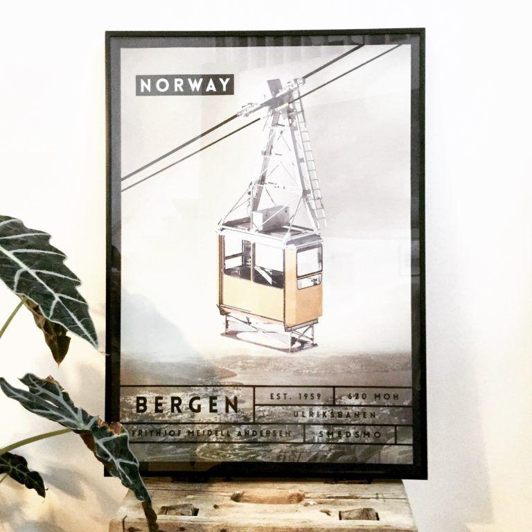 Poster From Bergen Designed By Www Smedsmo Dk Postershop Based In Aarhus Denmark Plakater