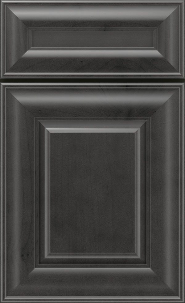 Laureldale cabinet doors are made with Cherry or Maple wood with a raised center panel and matching mitered drawer front with full overlay doors from Diamond.