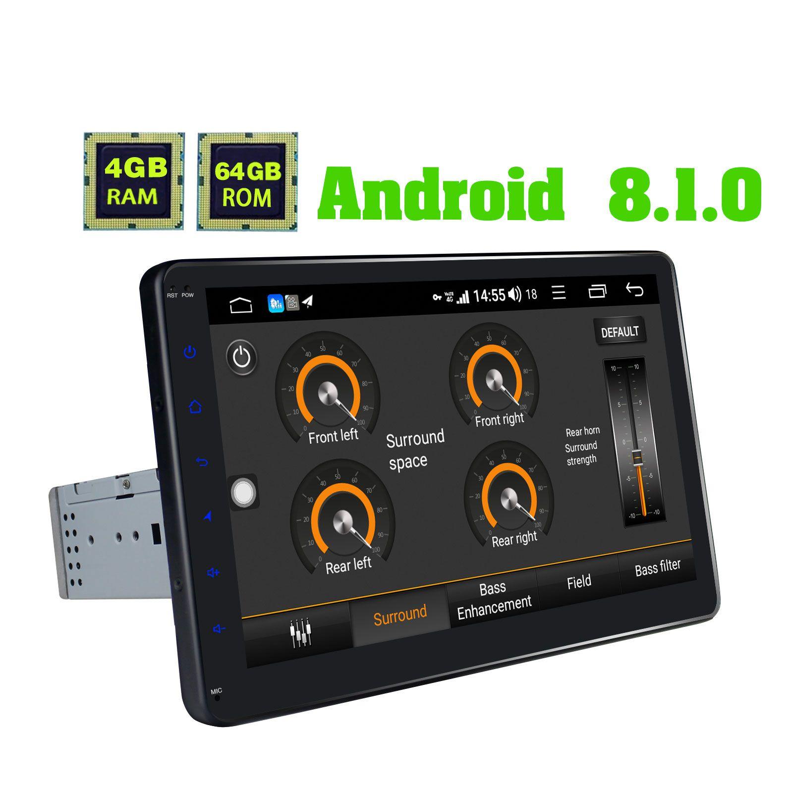 "Joyforwa aftermarket single din car stereo gps 10.1"" HD"