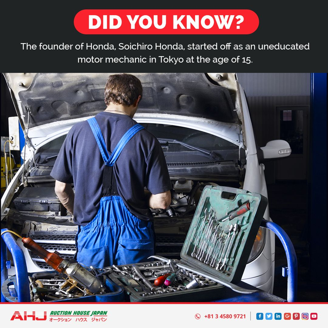 Did you know? The founder of Honda, Soichiro Honda started
