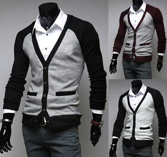 Mens Cotton Cardigan with Faux Pockets | Cotton and Men's fashion