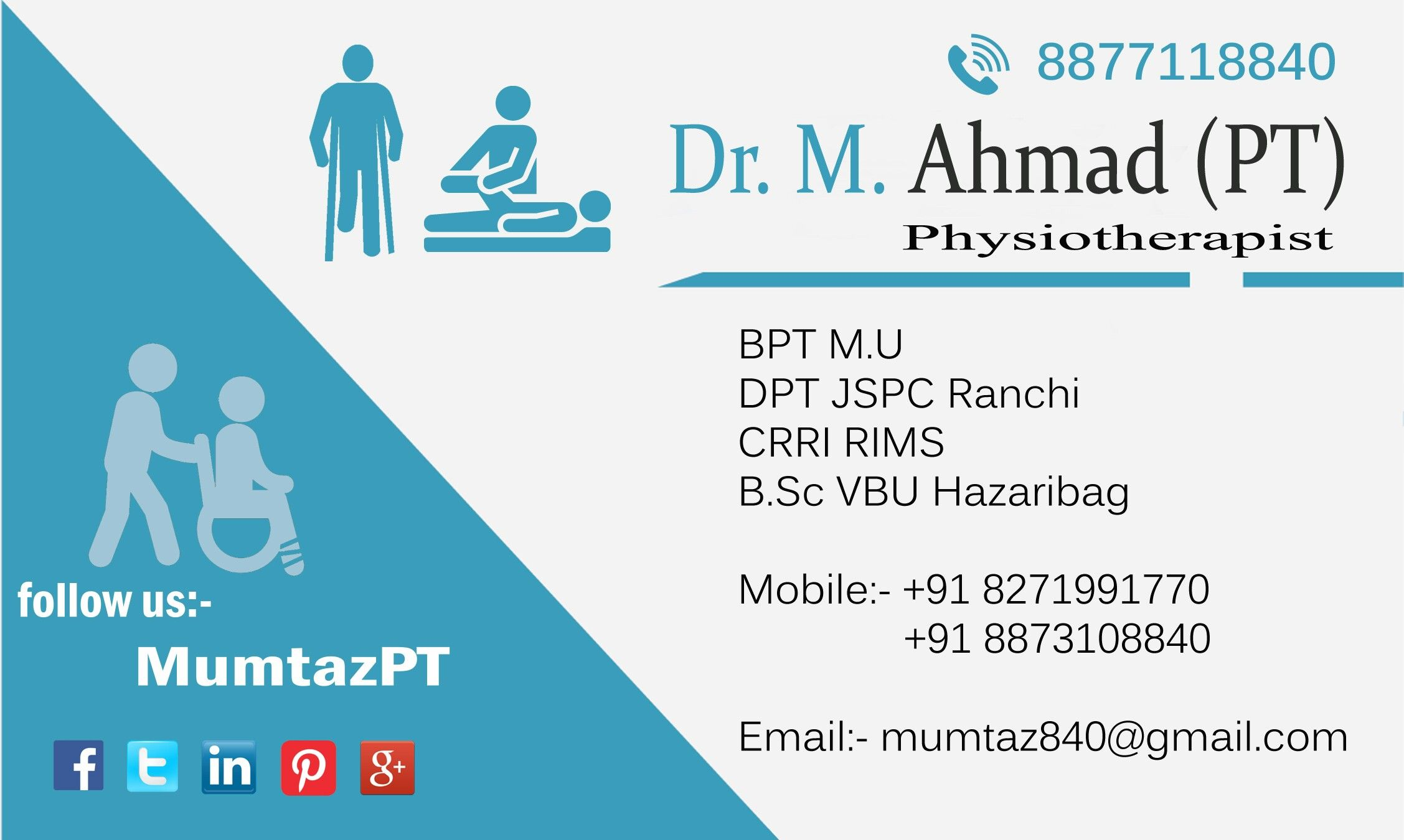 Visiting Card Physiotherapist Doctor Business Cards Medical Business Card Visiting Cards