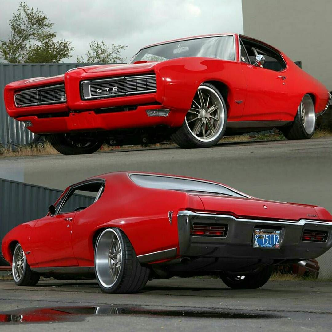Badass '68 #GTO built by @metalworkscar Photo via @MuscleCarZone #ClassicCarsWorld by classiccarsworld
