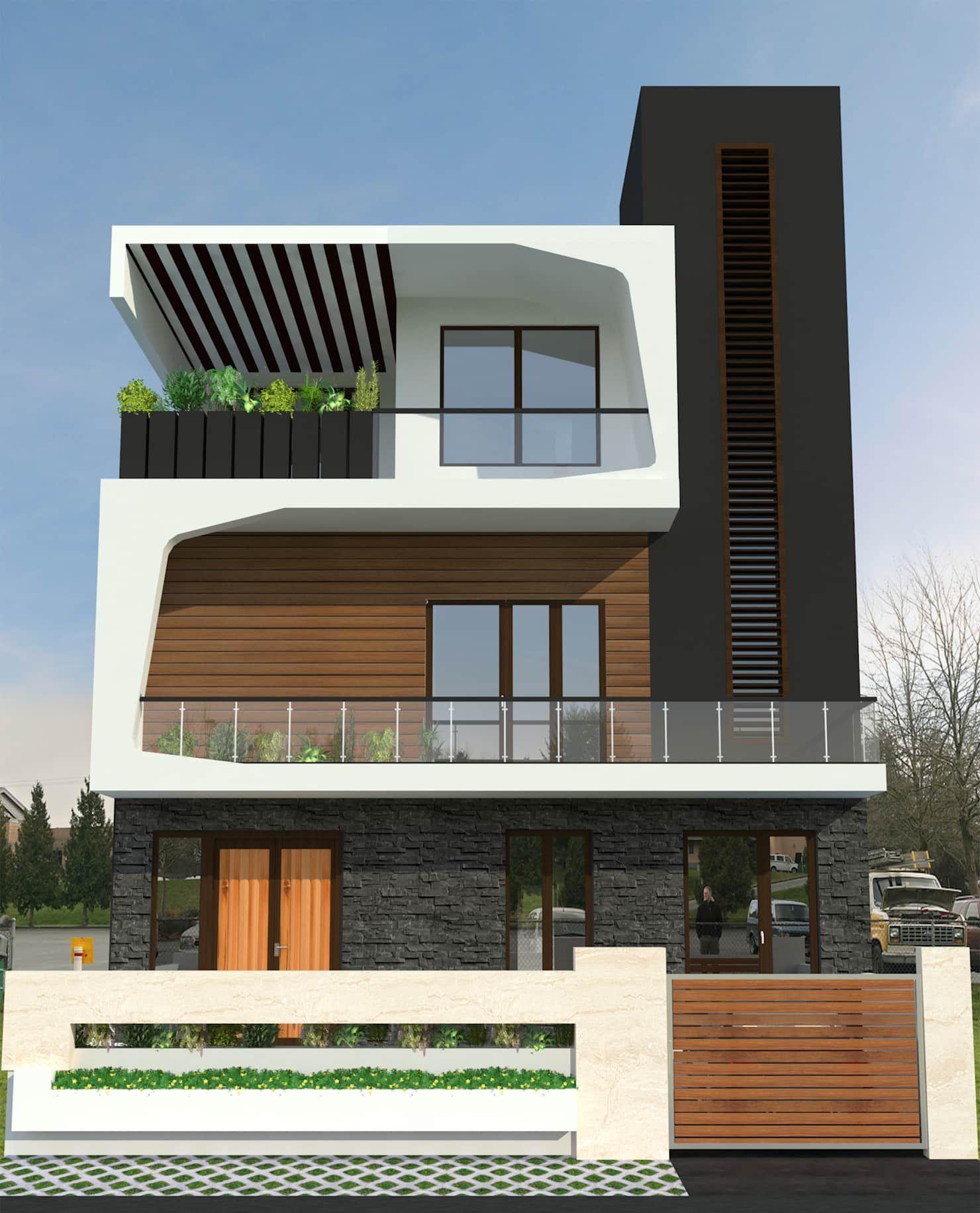 Bihani Residence And Interiors Modern Houses By Studio Rhomboid